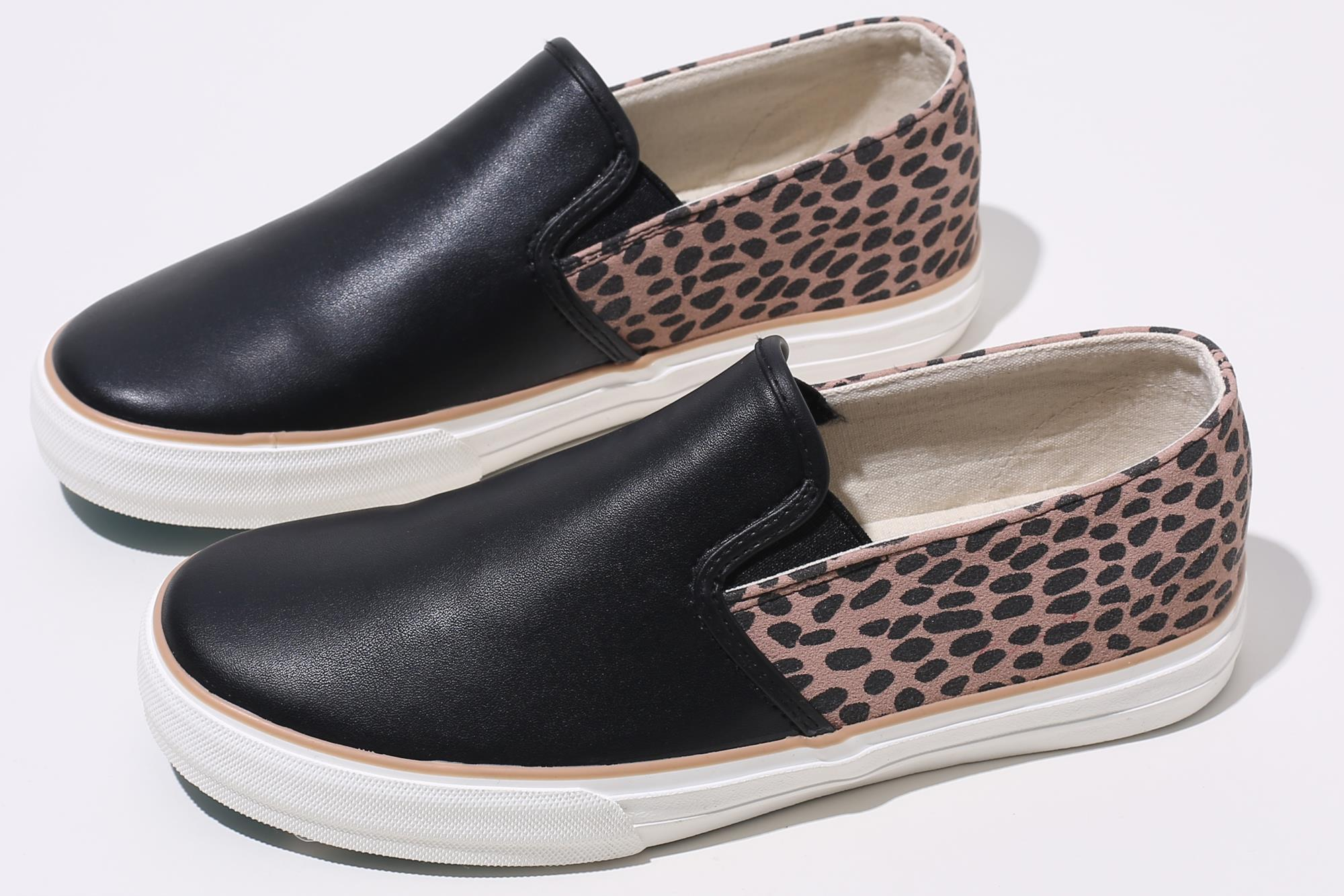 2020 high quality slip on autumn winter leopard leather shoes women shoes suppliers