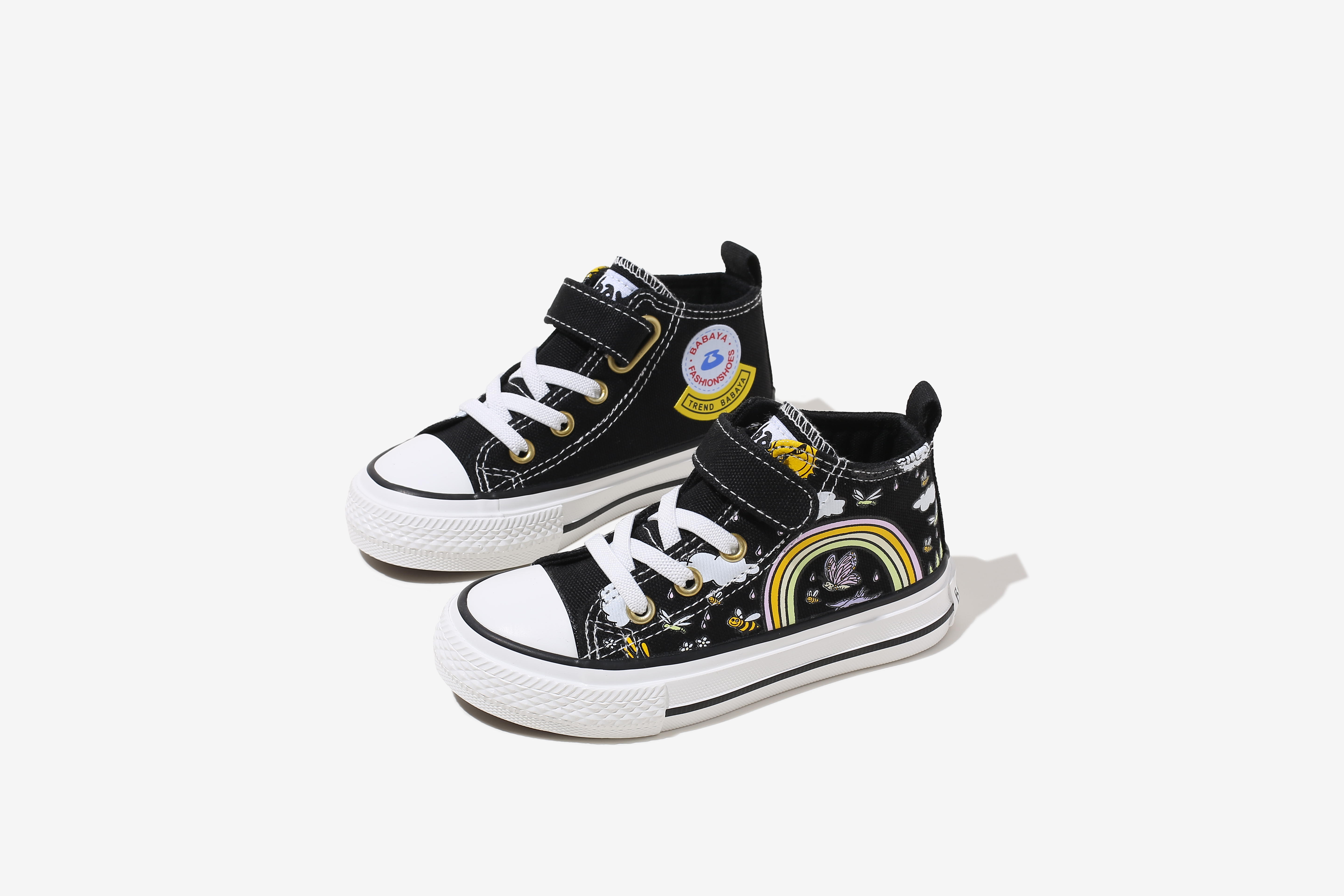 Wholesale Low Price Fashion New China Custom Logo Kids Canvas Shoes